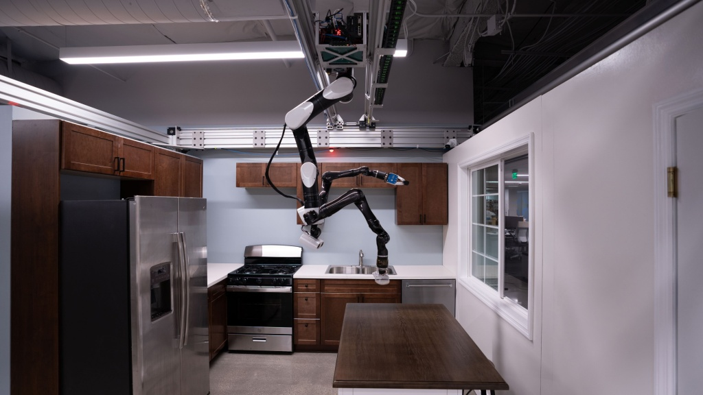 Toyoto Research Institute gantry robot kitchen