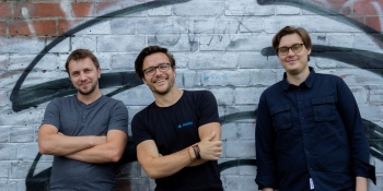 Hasty cofounder and CEO Tristan Rouillard (center), flanked by