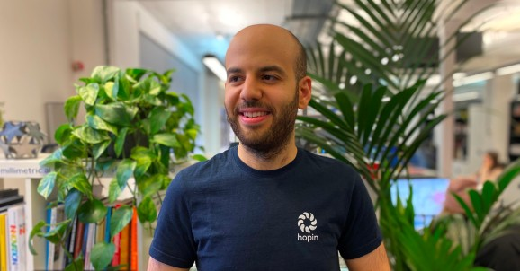 Hopin founder and CEO Johnny Boufarhat