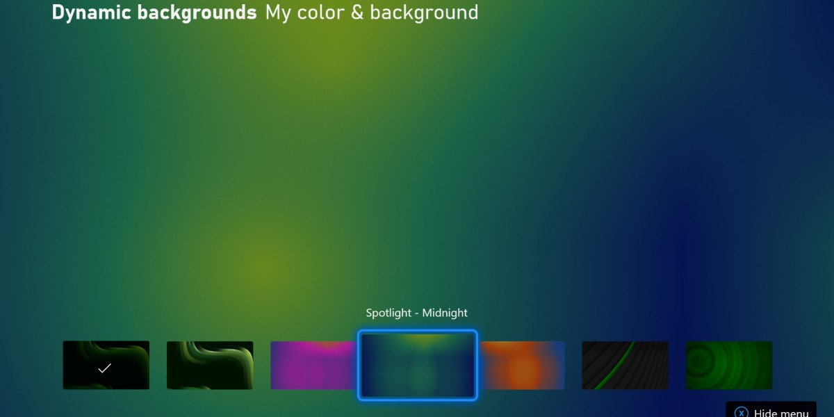 New dynamic backgrounds for Xbox Series X/S.