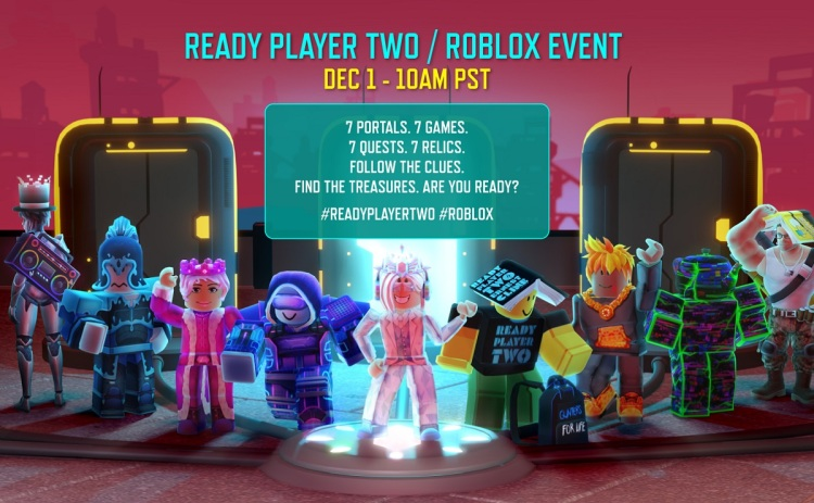 Roblox will hold events related to Ready Player Two by Ernest Cline.