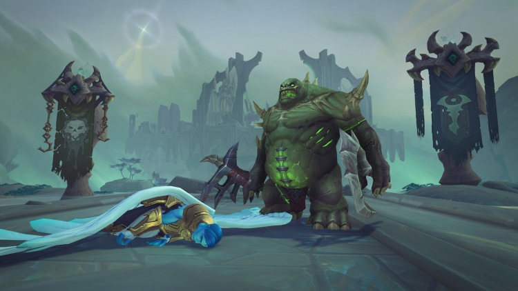 This bad-guy construct awaits Warcraft: Shadowlands players today.