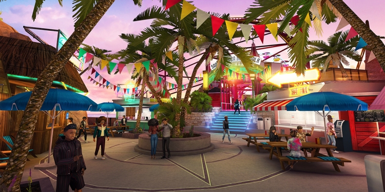 A plaza in Avakin Life