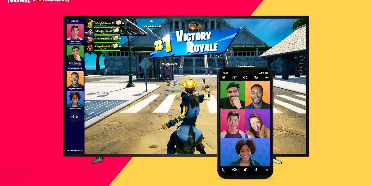 You can now join video chat using Houseparty in Fortnite.