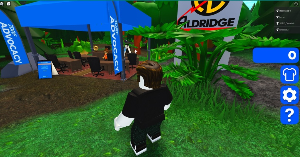 DEAN TAKAHASHI WANDERS THROUGH THE JDRF AREA INSIDE ROBLOX.