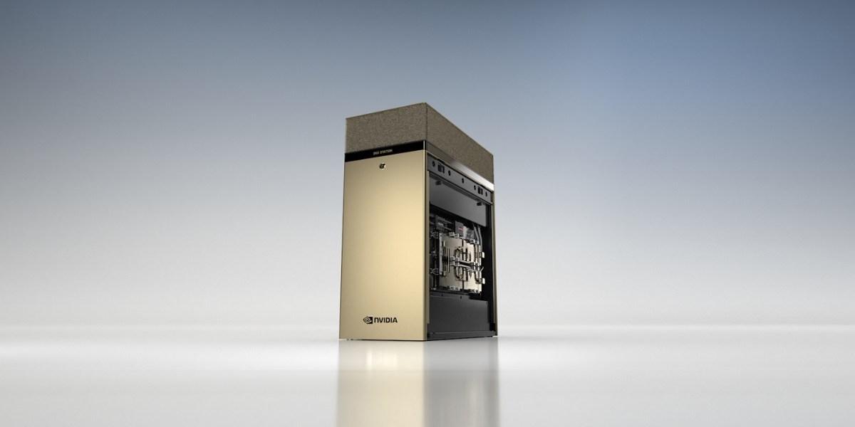 Nvidia's DGX Station A100 supercomputer.