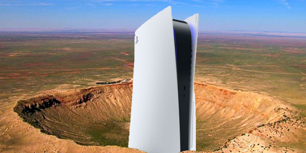 This is a real picture of the PlayStation 5.