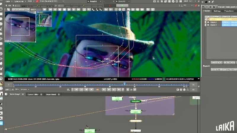 More than 2,000 character performances that needed cosmetic work with rotoscoping and scene removal.