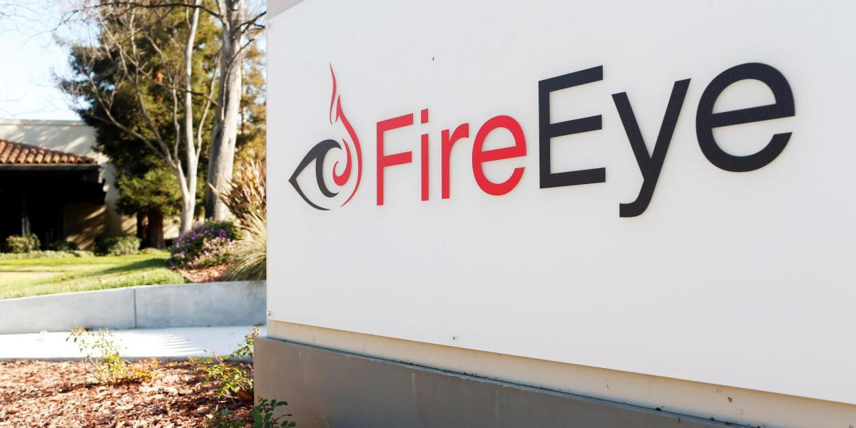 The FireEye logo is seen outside the company's offices in Milpitas, California, December 29, 2014.