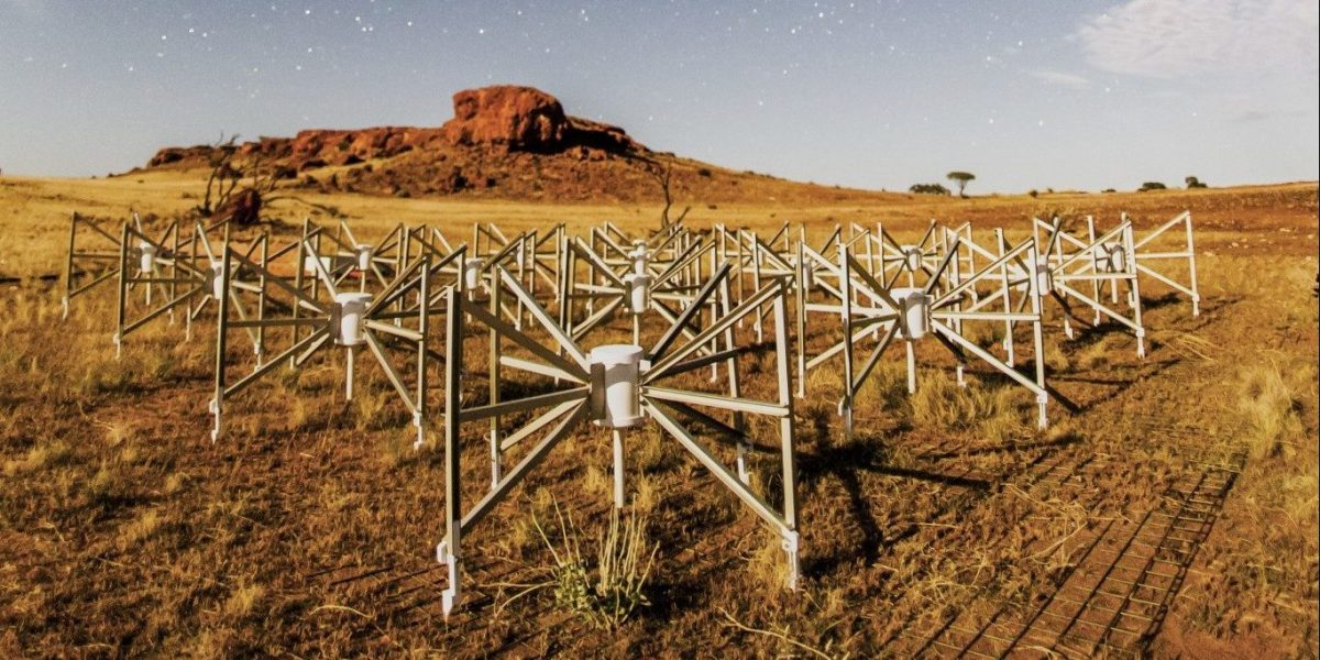 Murchison Widefield Array (WFA) radio telescopes, western Australia