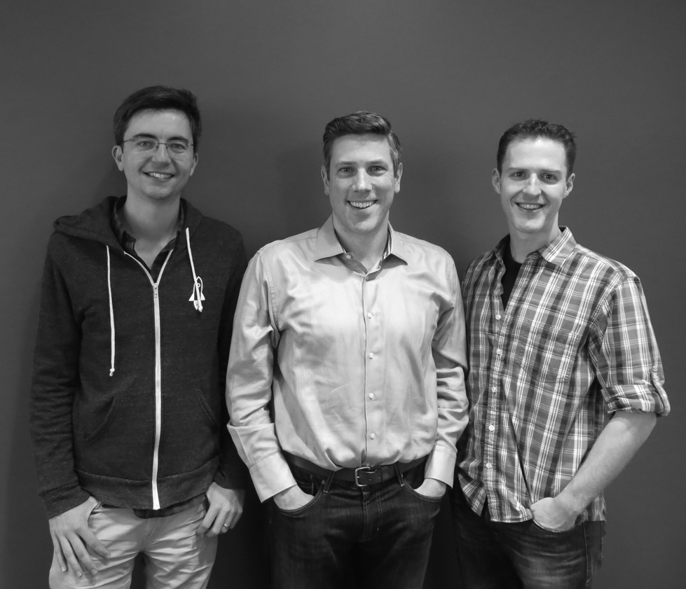 Liftoff cofounders (left to right): Harry Robertson (CTO), Mark Ellis (CEO), and Phil Crosby (CPO).