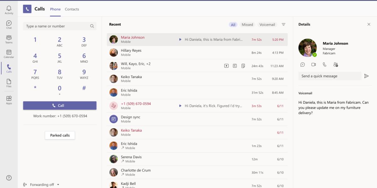 Microsoft Teams calls app