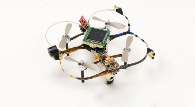 HRL's 2014 neuromorphic-driven quadcopter drone.