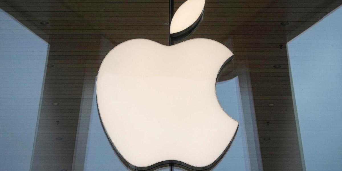 The Apple logo is seen at an Apple Store in Brooklyn, New York, U.S. October 23, 2020.