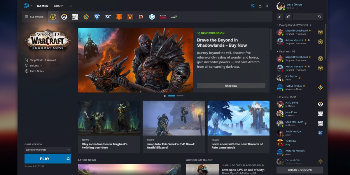Battle.net 2.0.