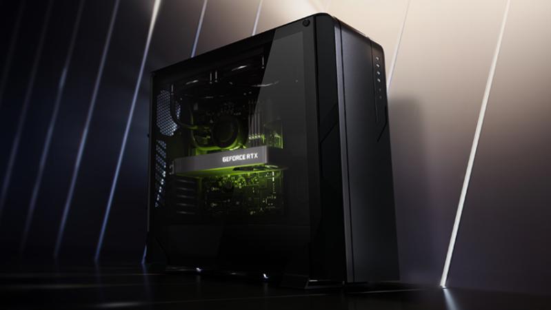 The Nvidia GeForce RTX 3060.