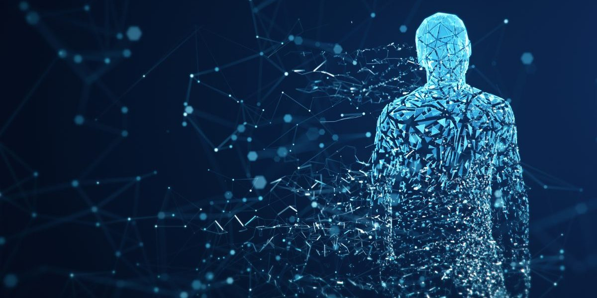 3D rendered depiction of a digital avatar.