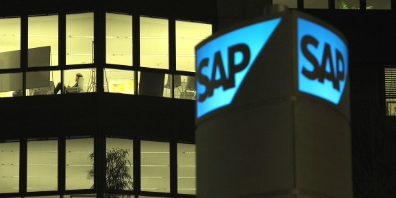 A view of the headquarters of SAP,, Germany's largest software company