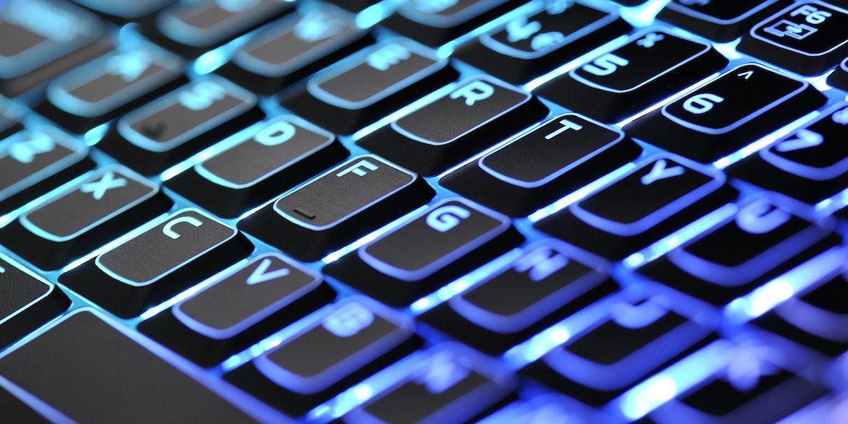 Alienware M18X laptop keyboard, Bath, July 7, 2011. (Photo by Simon Lees/PC Format Magazine via Getty Images)