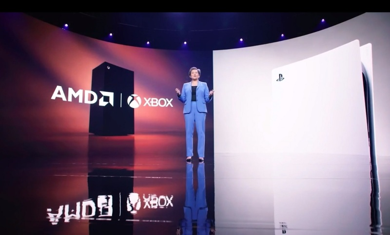 Lisa Su of AMD touts the company's presence in game consoles.