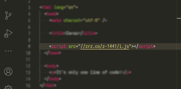 Zaraz: A single line of code