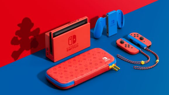 Super Mario gets his 35th anniversary Switch.