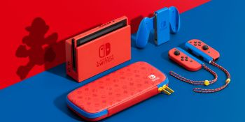 Nintendo reveals new Switch with red and blue Mario colors