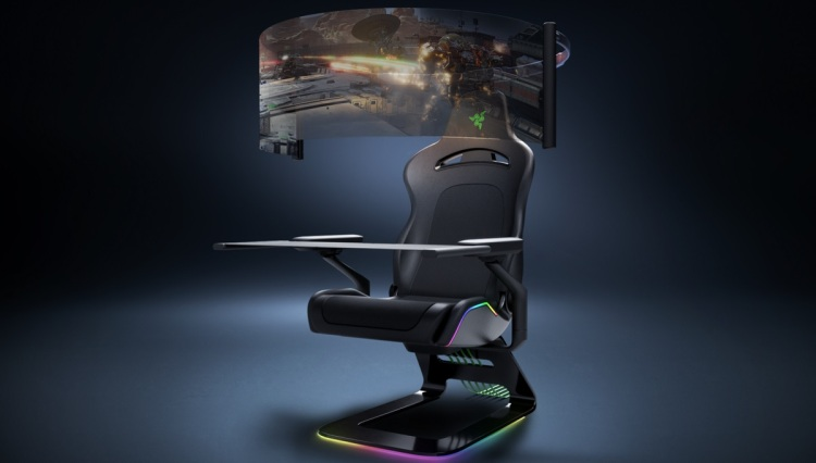 Razer's concept art for a future gaming chair.