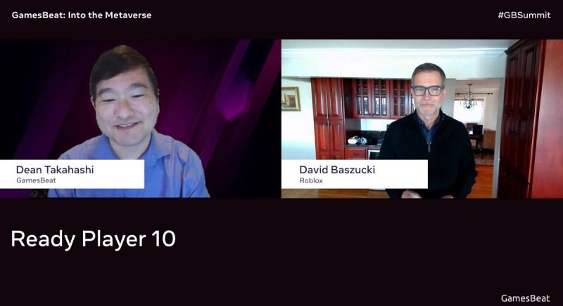 El CEO de Roblox, Dave Baszucki (derecha), habla con Dean Takahashi de GamesBeat en Into the Metaverse.