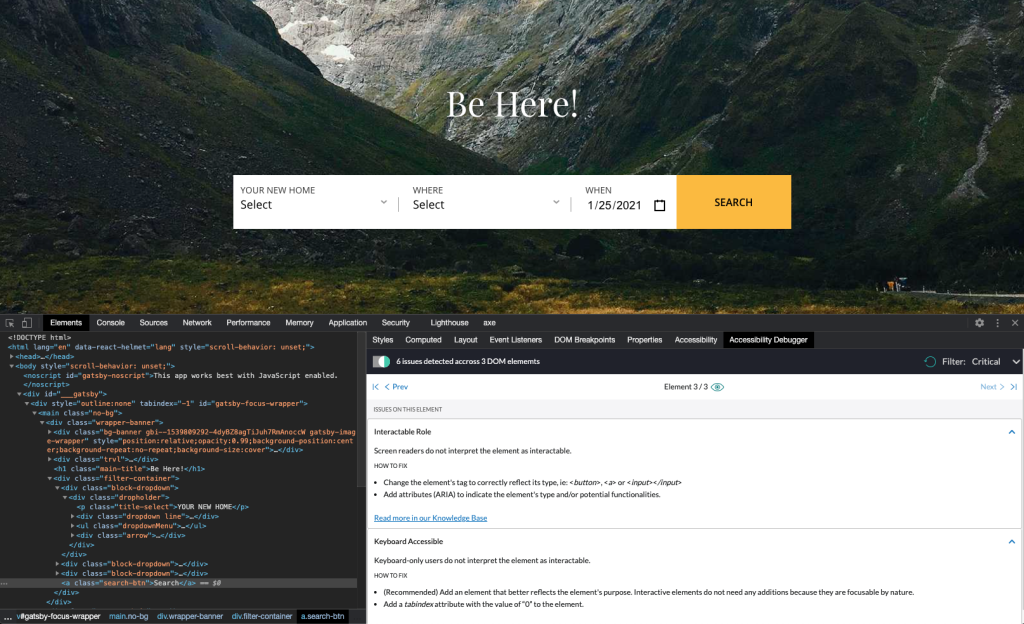 Evinced: Dev Debugger tool