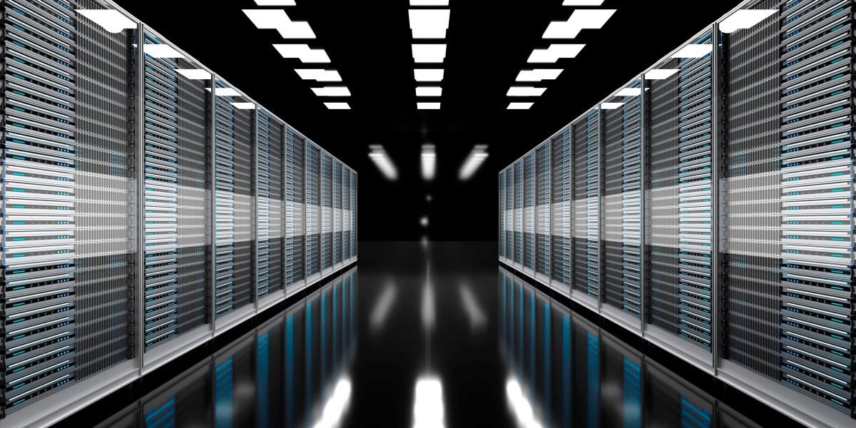 Render of modern server room