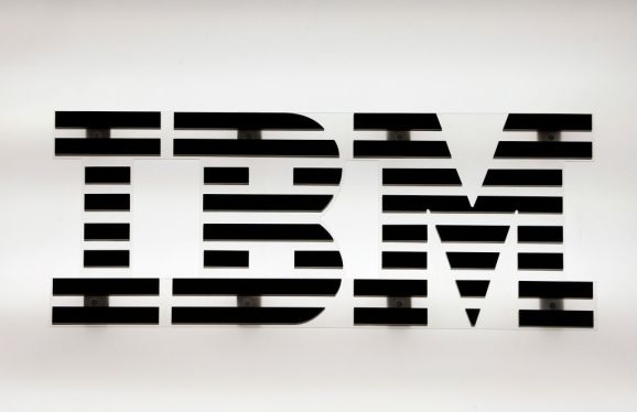 PARIS, FRANCE - MAY 16: The logo of the software and computer services company IBM is displayed during the 4th edition of the Viva Technology show at Parc des Expositions Porte de Versailles on May 16, 2019 in Paris, France. Viva Technology, the new international event brings together 9000 startups with top investors, companies to grow businesses and all players in the digital transformation who shape the future of the internet. (Photo by Chesnot/Getty Images)