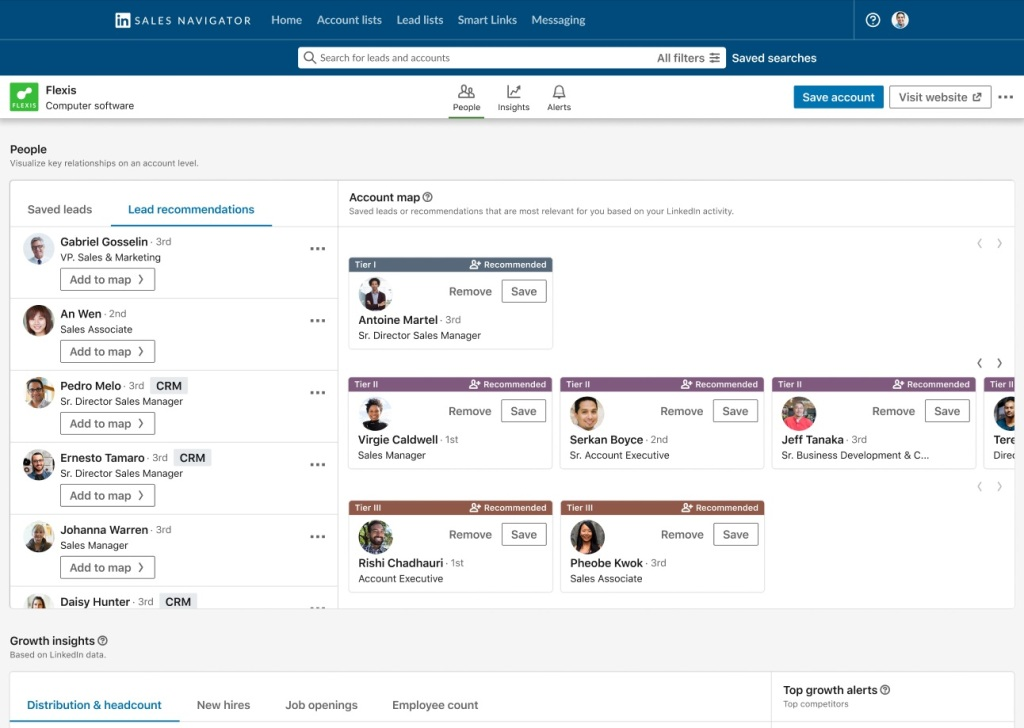 LinkedIn's Sales Navigator gets account mapping to help sales teams identify the right buyers Lsales