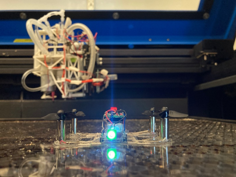 MIT CSAIL LaserFactory  MIT CSAIL's LaserFactory can print fully functional drones MIT quad hardware portrait