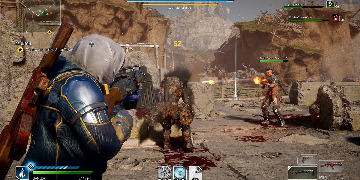 Outriders is a co-op shooter.