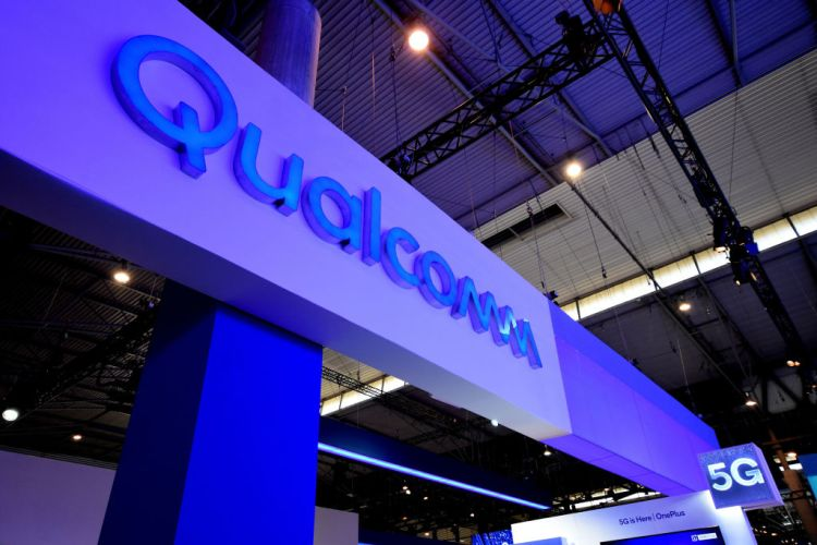 Qualcomm brand with 5G technology seen during the Mobile World Congress 2019 in Barcelona. (Photo by Ramon Costa/SOPA Images/LightRocket via Getty Images)