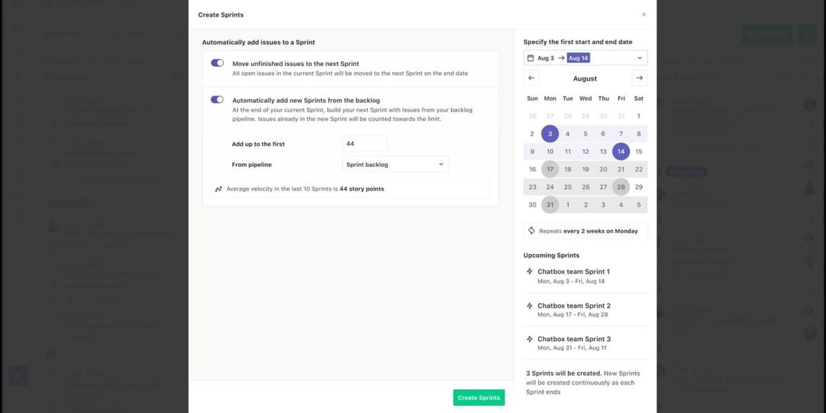 ZenHub Sprint -- Calendar View