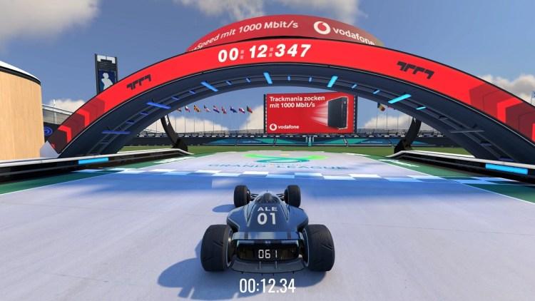 Anzu put Vodafone's ad inside Trackmania game.
