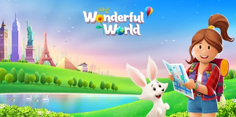 What a Wonderful World is a match-3 game from BebopBee.