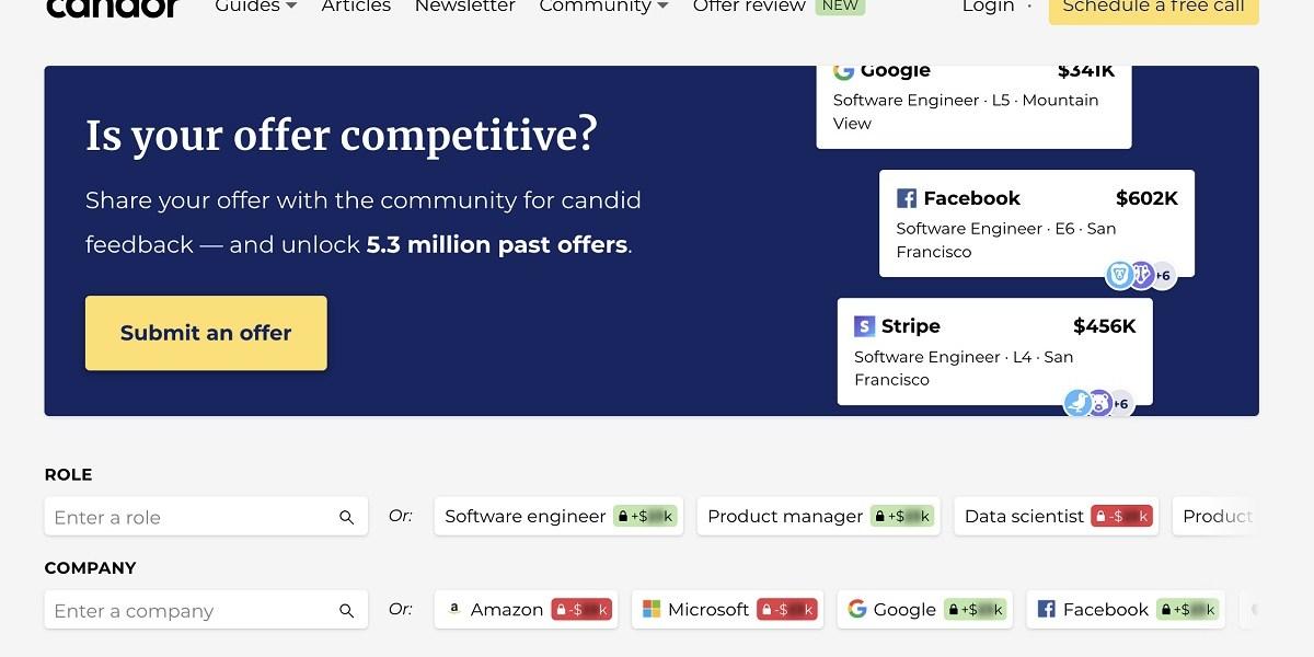 Candor is crowdsourcing tech salaries.