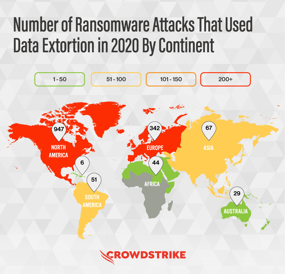 'Antivirus is dead': The rising enterprise security threats for 2021 and how to protect against them crowdstrike map
