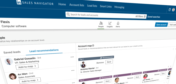 LinkedIn Sales Navigator: Mapping accounts