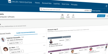 LinkedIn's Sales Navigator gets account mapping to help sales teams identify the right buyers