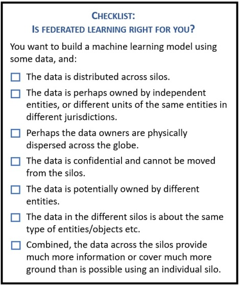 How to know if federated learning should be part of your data strategy federated learning checklist