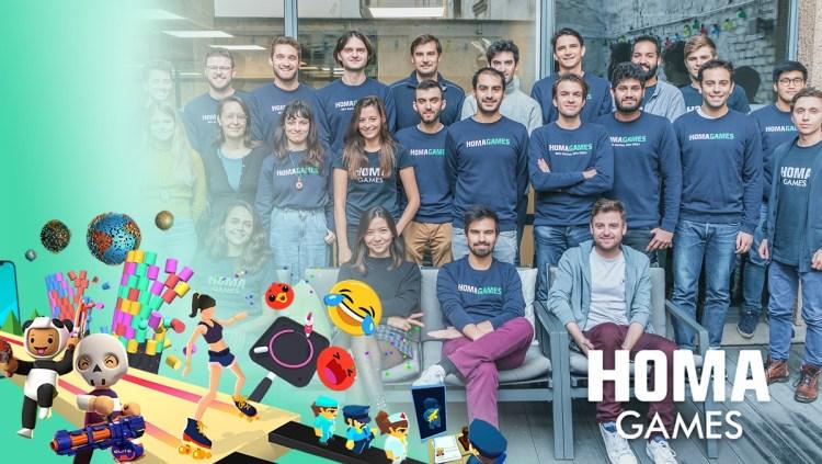 The Homa Games team in Paris.