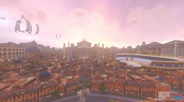 The new Rome map is part of the look of the upcoming Overwatch 2.