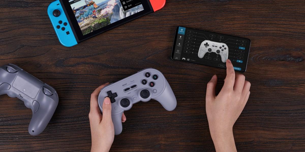 8BitDo Pro 2 controller.