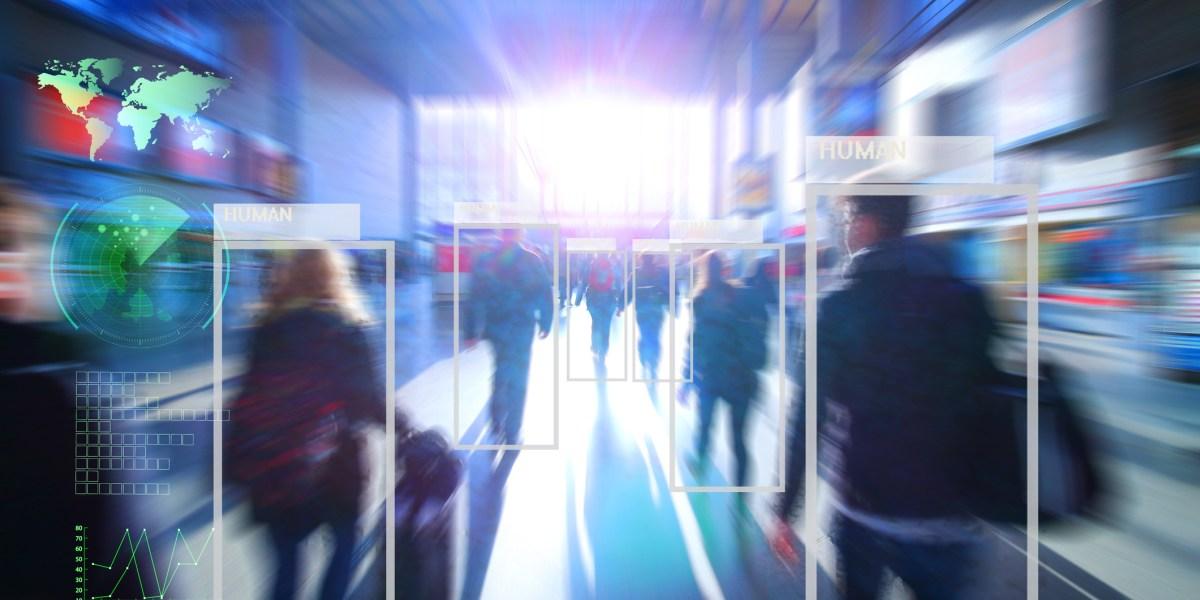At a crowded transport hub, AI identifies humans