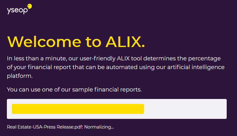 Yseop now tells you what percentage of a financial report can be generated automatically B