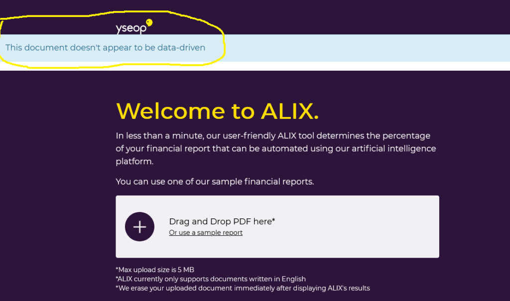 Yseop now tells you what percentage of a financial report can be generated automatically C